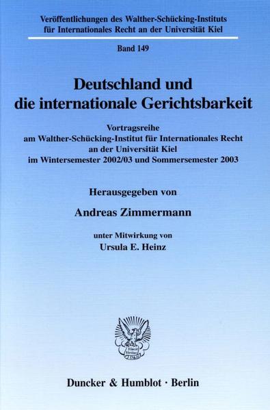 Deutschland und die internationale Gerichtsbarkeit. - Coverbild