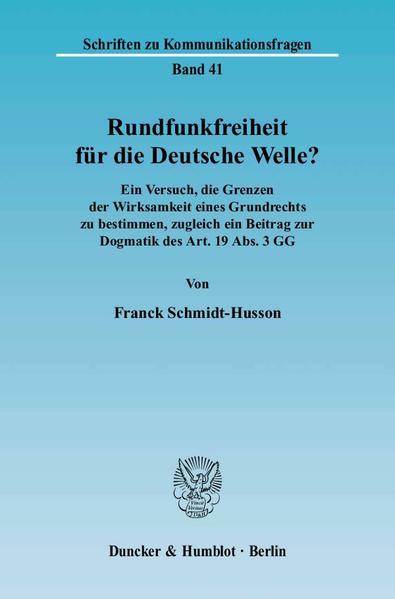 Rundfunkfreiheit für die Deutsche Welle? - Coverbild