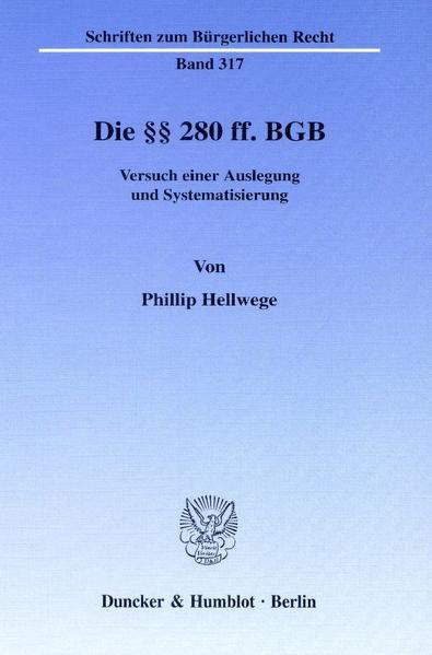 Die §§ 280 ff. BGB. - Coverbild