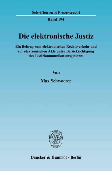 Die elektronische Justiz. - Coverbild
