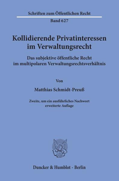 Kollidierende Privatinteressen im Verwaltungsrecht. - Coverbild