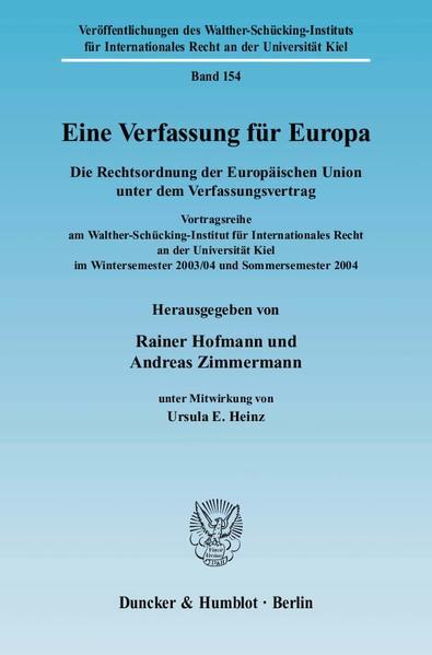 Eine Verfassung für Europa. - Coverbild