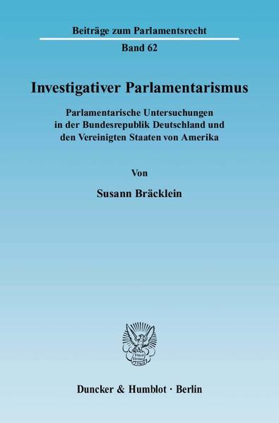 Investigativer Parlamentarismus. - Coverbild