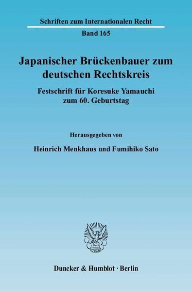 Japanischer Brückenbauer zum deutschen Rechtskreis. - Coverbild