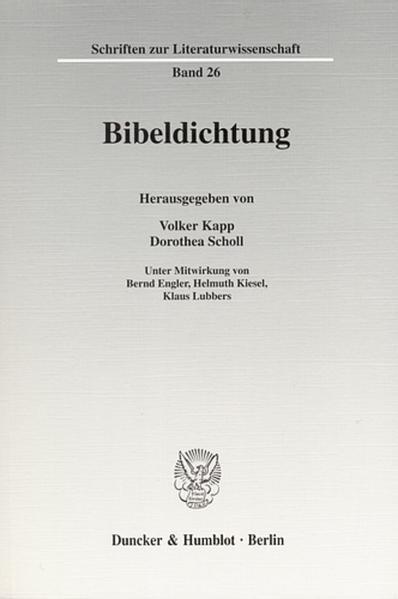 Bibeldichtung. - Coverbild