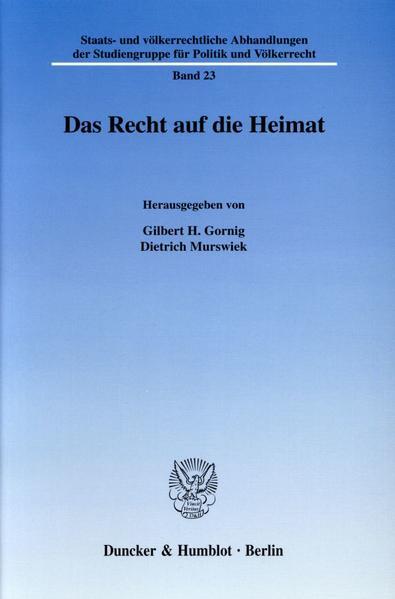 Das Recht auf die Heimat. - Coverbild