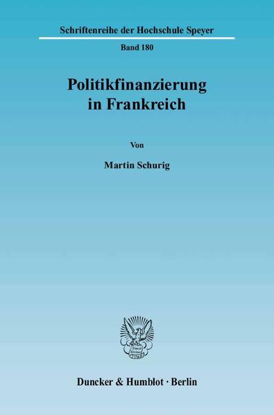 Politikfinanzierung in Frankreich. - Coverbild