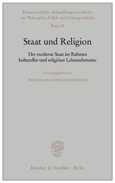 Staat und Religion. - Coverbild