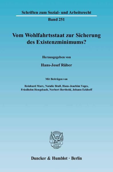Vom Wohlfahrtsstaat zur Sicherung des Existenzminimums? - Coverbild