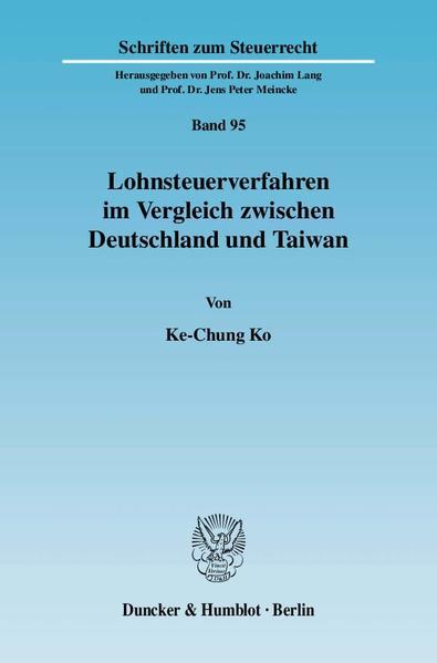 Lohnsteuerverfahren im Vergleich zwischen Deutschland und Taiwan. - Coverbild
