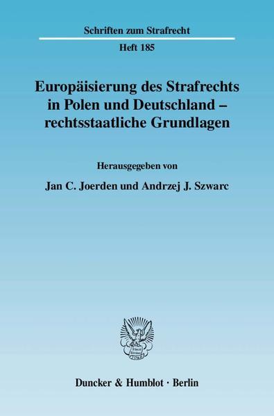 Europäisierung des Strafrechts in Polen und Deutschland - rechtsstaatliche Grundlagen. - Coverbild