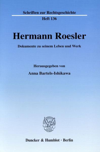 Hermann Roesler. - Coverbild