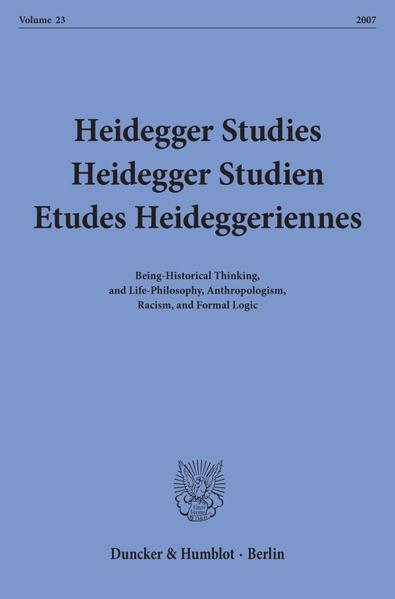 Heidegger Studies / Heidegger Studien / Etudes Heideggeriennes. - Coverbild