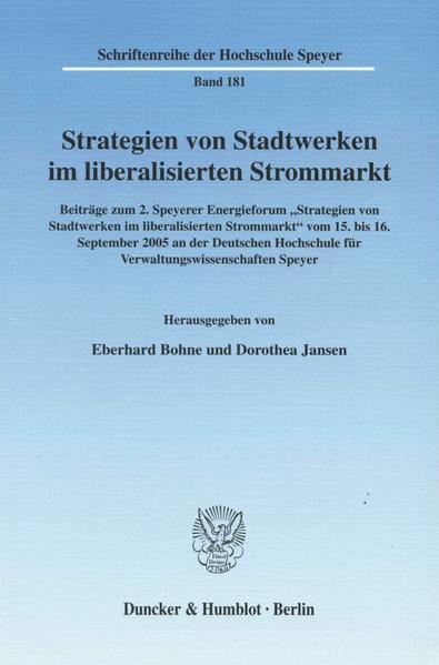 Strategien von Stadtwerken im liberalisierten Strommarkt. - Coverbild
