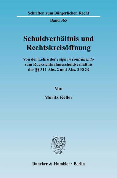 Schuldverhältnis und Rechtskreisöffnung. - Coverbild