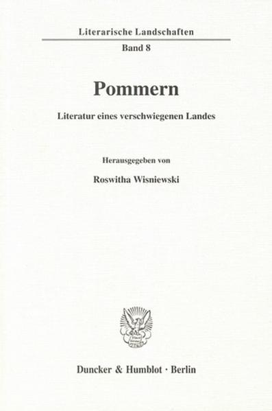 Pommern - Literatur eines verschwiegenen Landes. - Coverbild