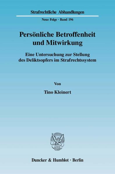 Persönliche Betroffenheit und Mitwirkung. - Coverbild