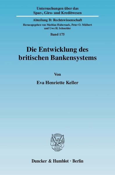 Die Entwicklung des britischen Bankensystems. - Coverbild