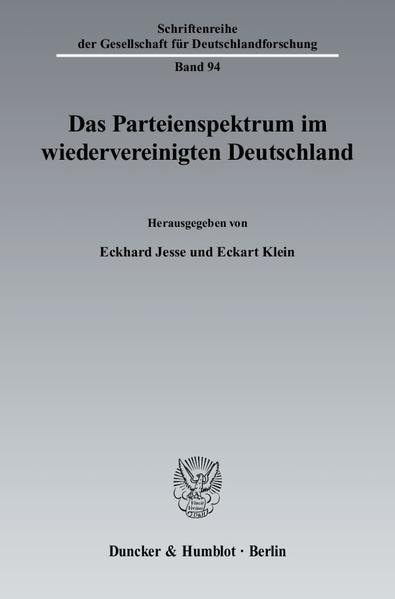 Das Parteienspektrum im wiedervereinigten Deutschland. - Coverbild