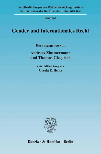 Gender und Internationales Recht. - Coverbild