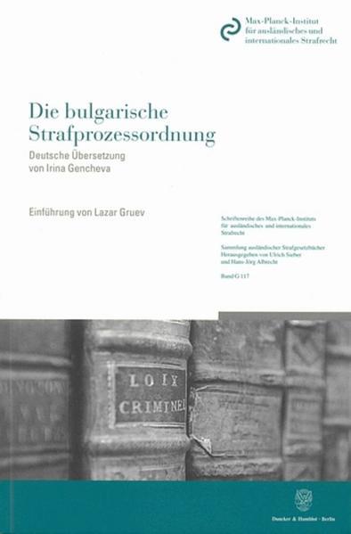 Die bulgarische Strafprozessordnung. - Coverbild