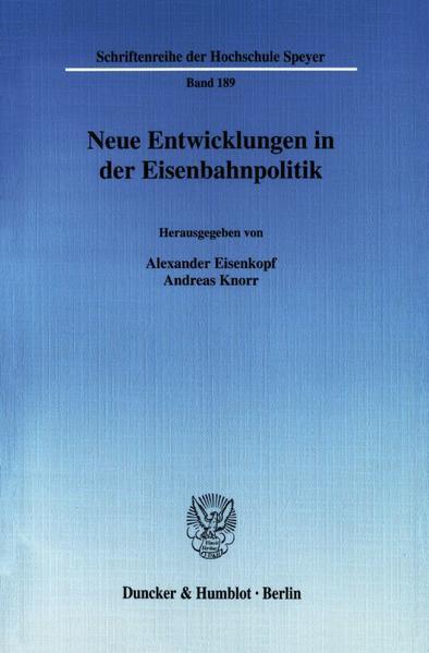 Neue Entwicklungen in der Eisenbahnpolitik. - Coverbild