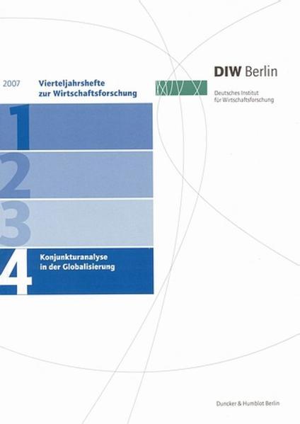 Konjunkturanalyse in der Globalisierung. - Coverbild