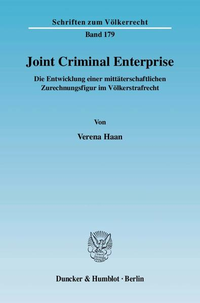 Joint Criminal Enterprise. - Coverbild