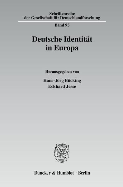 Deutsche Identität in Europa. - Coverbild
