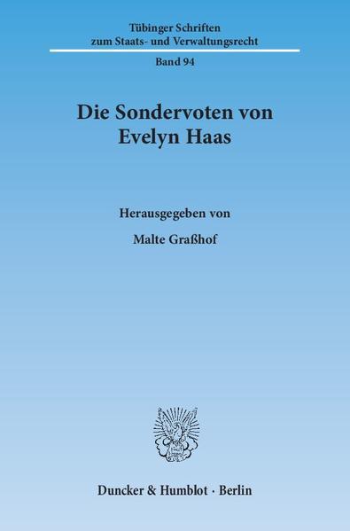 Die Sondervoten von Evelyn Haas. - Coverbild