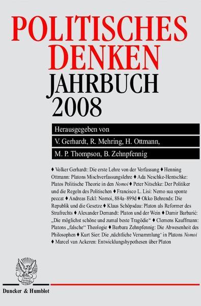 Politisches Denken. Jahrbuch 2008. - Coverbild