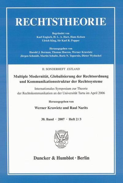Multiple Modernität, Globalisierung der Rechtsordnung und Kommunikationsstruktur der Rechtssysteme. - Coverbild