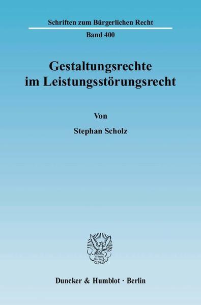Kostenloses PDF-Buch Gestaltungsrechte im Leistungsstörungsrecht.