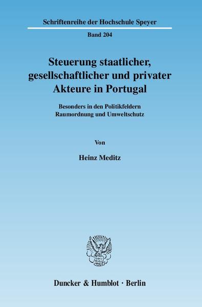 Steuerung staatlicher, gesellschaftlicher und privater Akteure in Portugal. - Coverbild