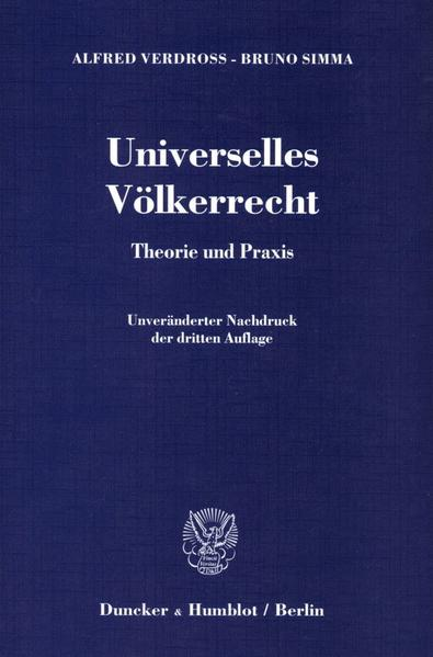 Universelles Völkerrecht. - Coverbild