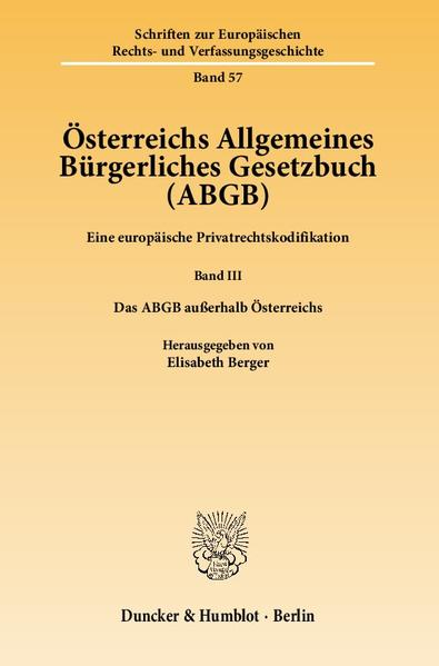 Österreichs Allgemeines Bürgerliches Gesetzbuch (ABGB). - Coverbild