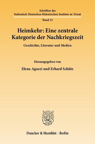 Heimkehr: Eine zentrale Kategorie der Nachkriegszeit. - Coverbild