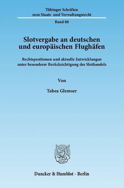 Slotvergabe an deutschen und europäischen Flughäfen. - Coverbild