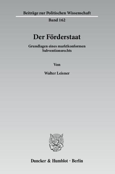 Der Förderstaat. - Coverbild