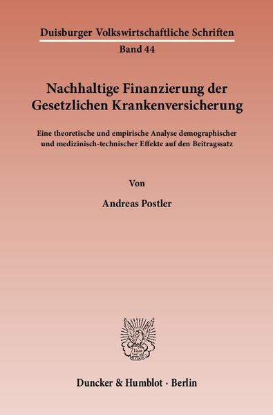 Nachhaltige Finanzierung der Gesetzlichen Krankenversicherung. - Coverbild