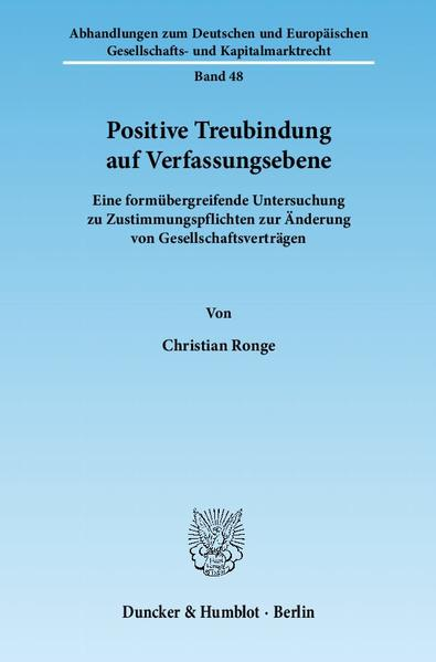 Positive Treubindung auf Verfassungsebene. - Coverbild