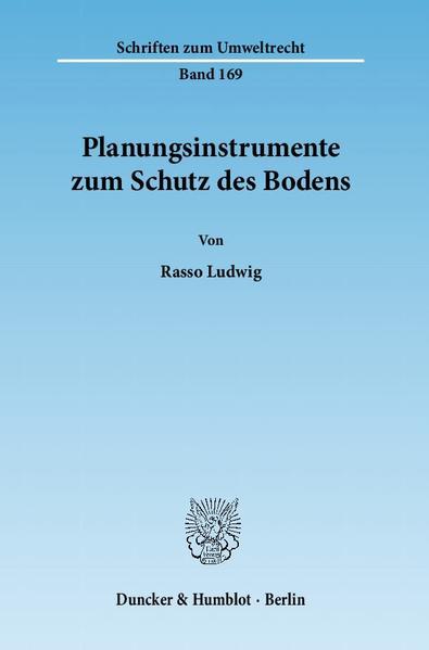 Kostenloses PDF-Buch Planungsinstrumente zum Schutz des Bodens.