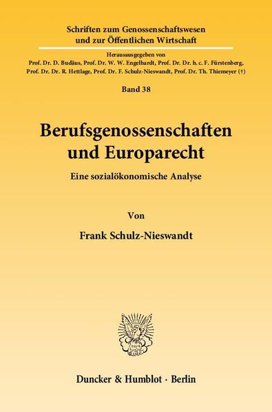 Berufsgenossenschaften und Europarecht. - Coverbild