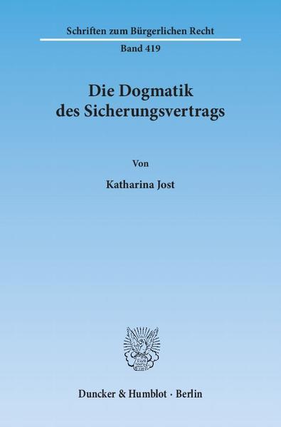 Die Dogmatik des Sicherungsvertrags. - Coverbild