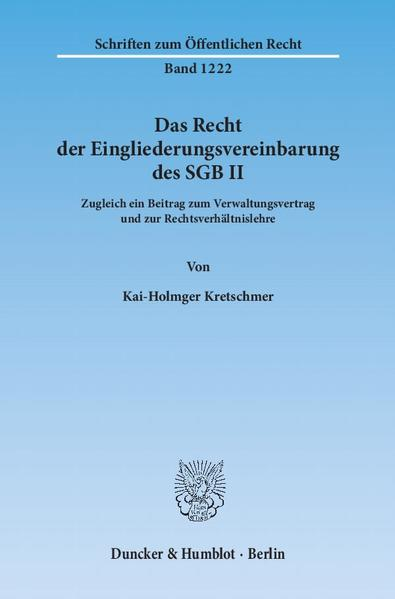 Das Recht der Eingliederungsvereinbarung des SGB II. - Coverbild