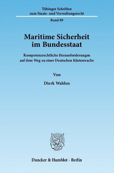 Maritime Sicherheit im Bundesstaat. - Coverbild