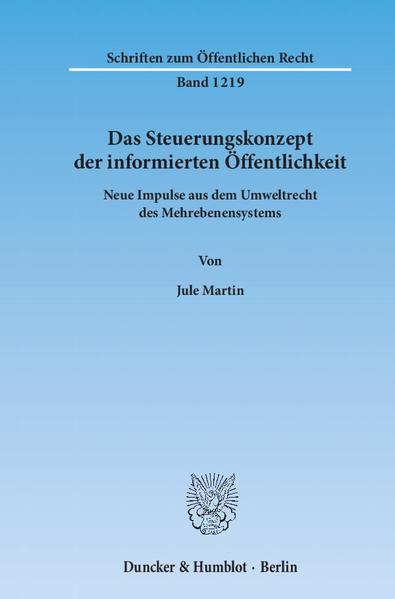 Das Steuerungskonzept der informierten Öffentlichkeit. - Coverbild