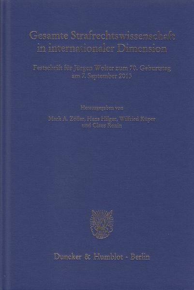 Gesamte Strafrechtswissenschaft in internationaler Dimension. - Coverbild