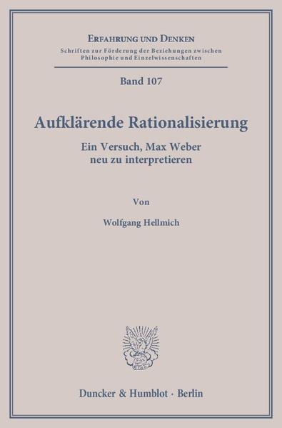 Aufklärende Rationalisierung. - Coverbild
