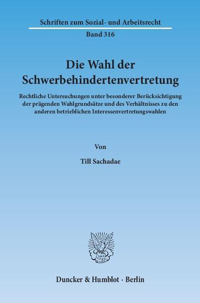 Die Wahl der Schwerbehindertenvertretung. - Coverbild